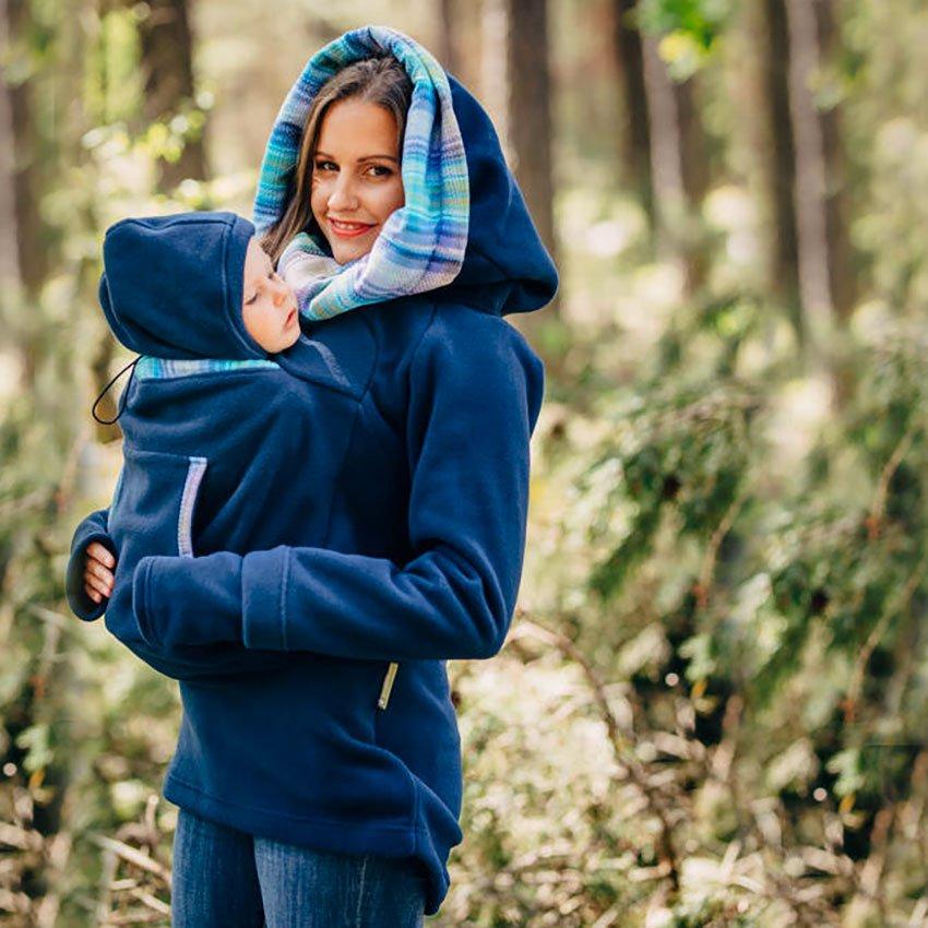Felpa babywearing lennylamb blue navy felpa per portare - Felpa decathlon per portare ...